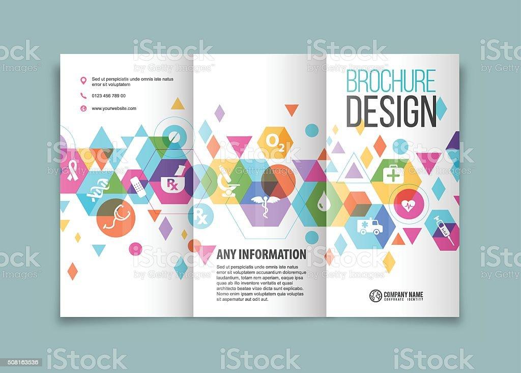 Medical based brochure design vector art illustration