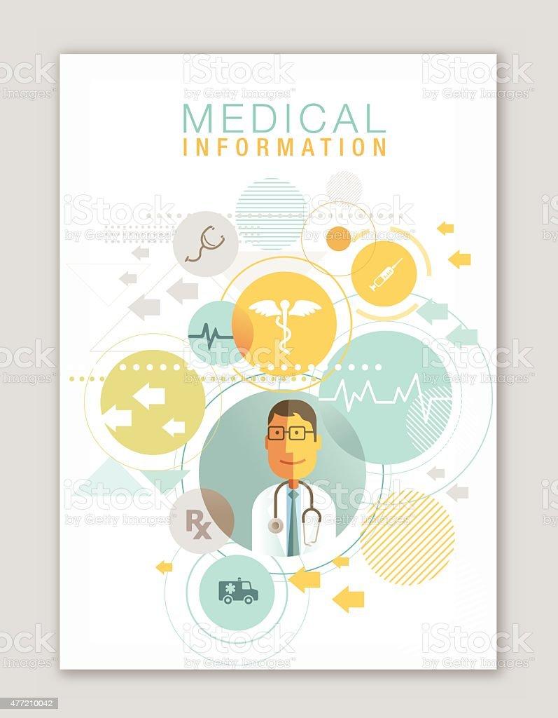 Medical book design vector art illustration