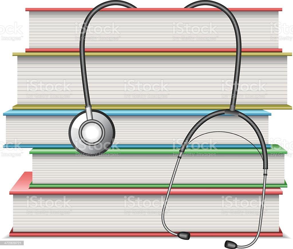 Medical books vector art illustration