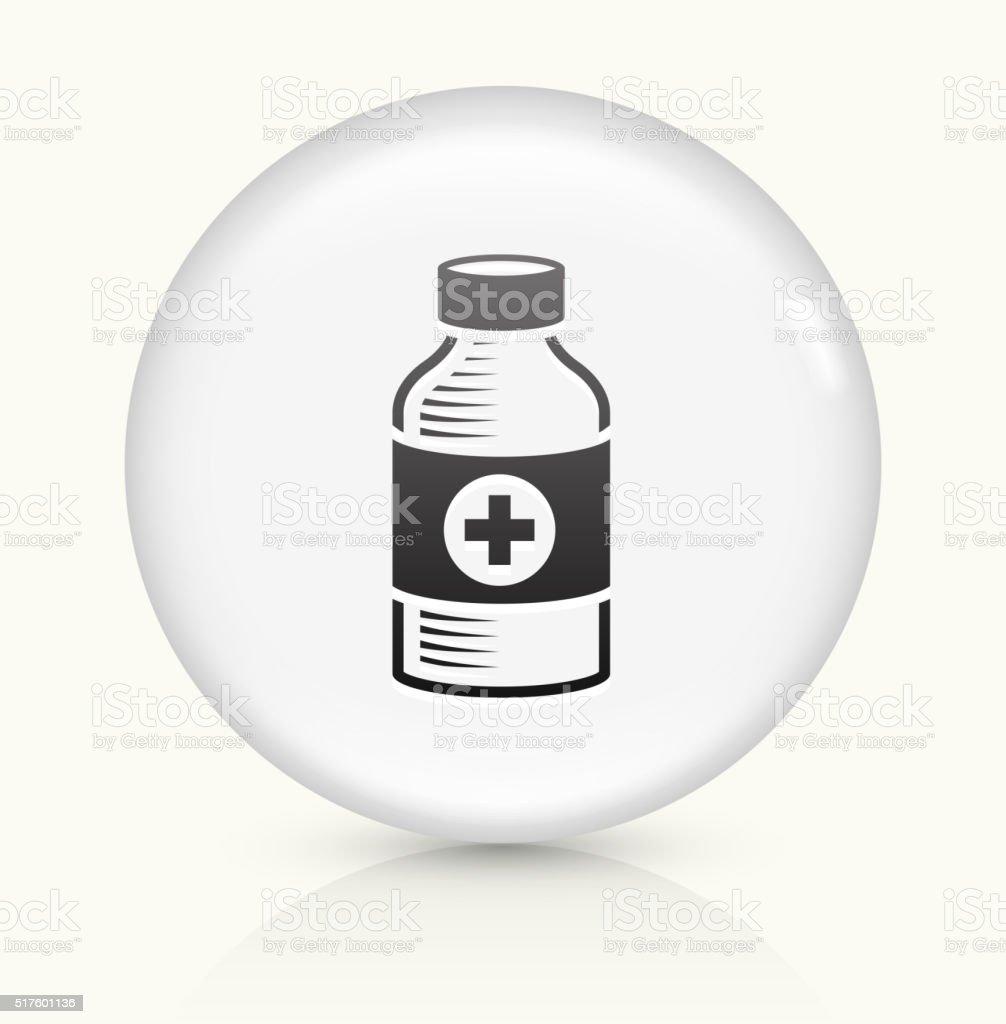 Medical Bottle icon on white round vector button vector art illustration