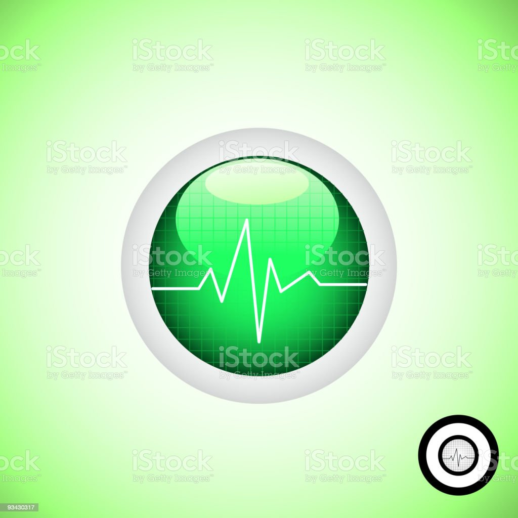 Medical Button royalty-free stock vector art