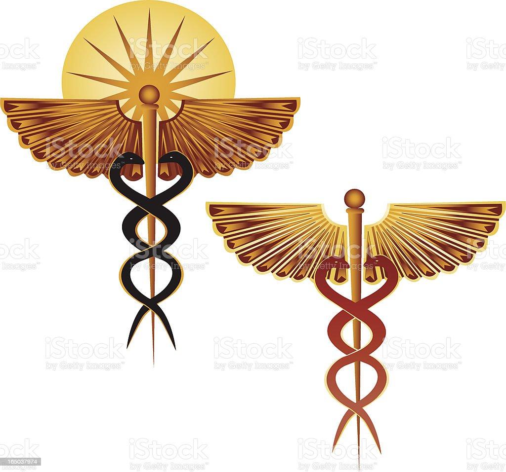 Medical Caduceus royalty-free stock vector art