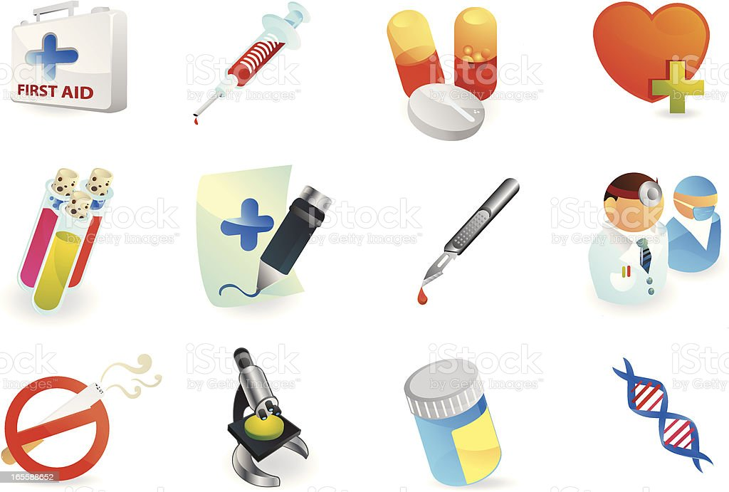Medical Care Icons royalty-free stock vector art