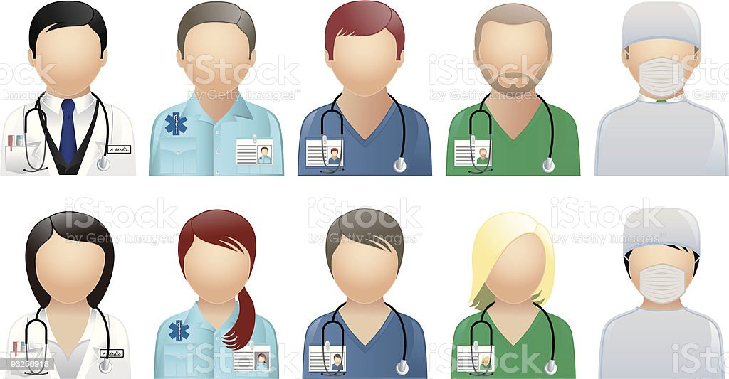 Medical & Care People - Avatars & User Icons vector art illustration