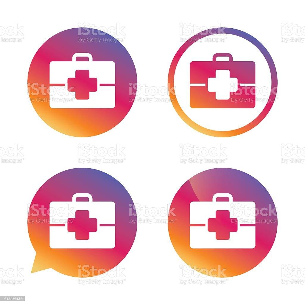 Medical case sign icon. Doctor symbol. vector art illustration