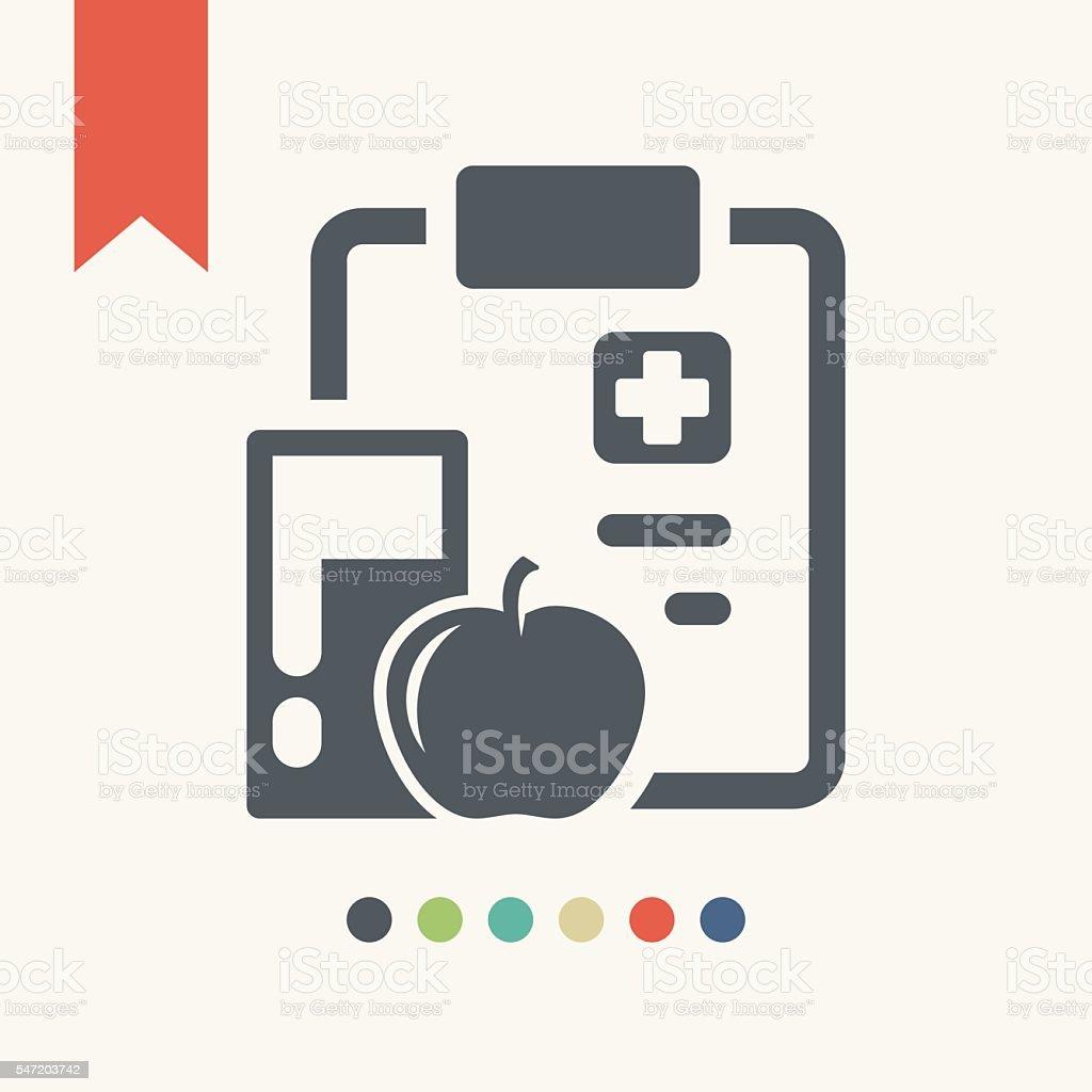 Medical chart icon vector art illustration