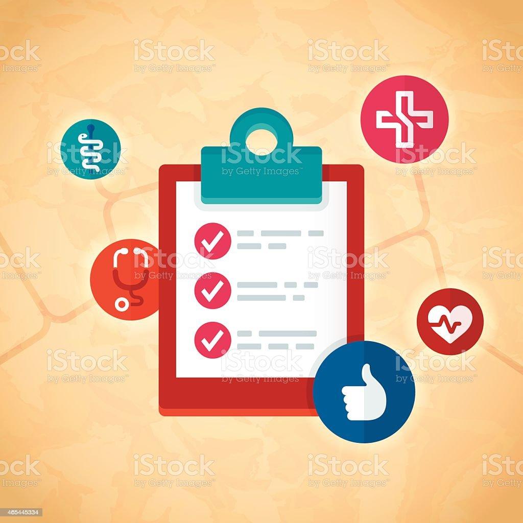 Medical Checklist vector art illustration