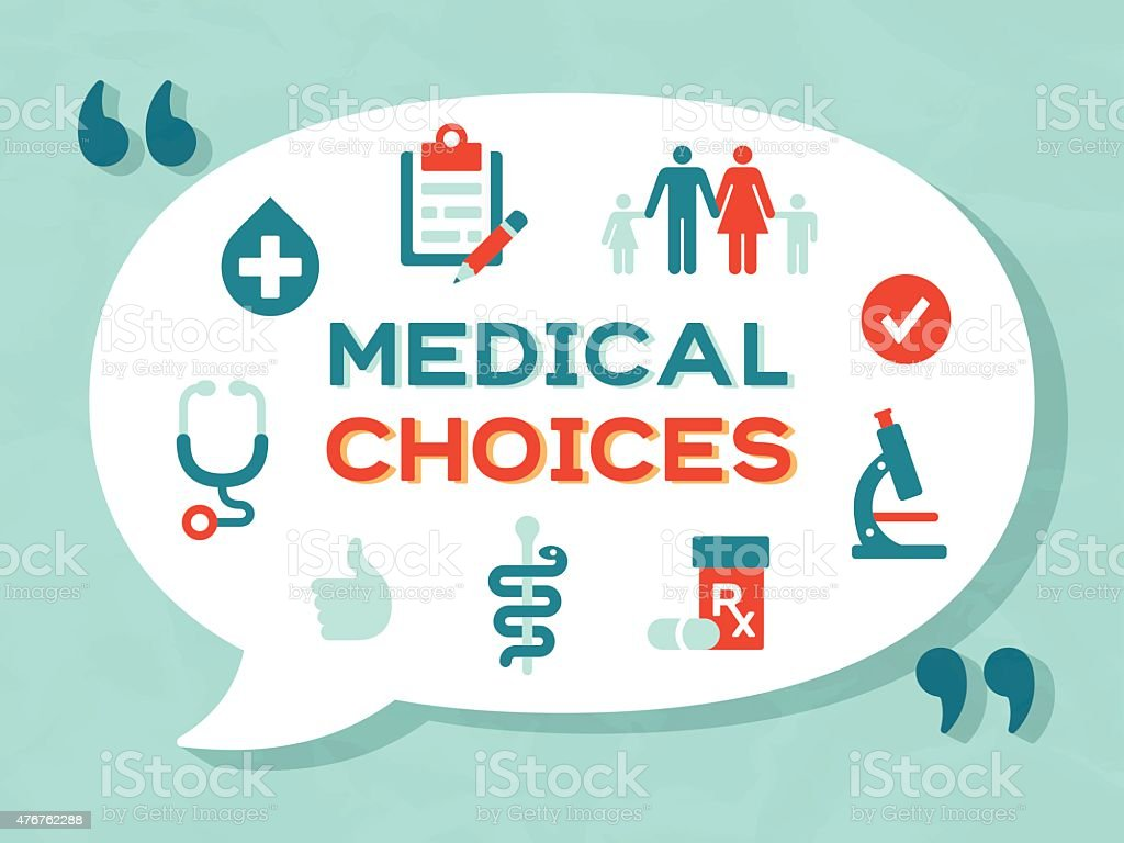 Medical Choices vector art illustration