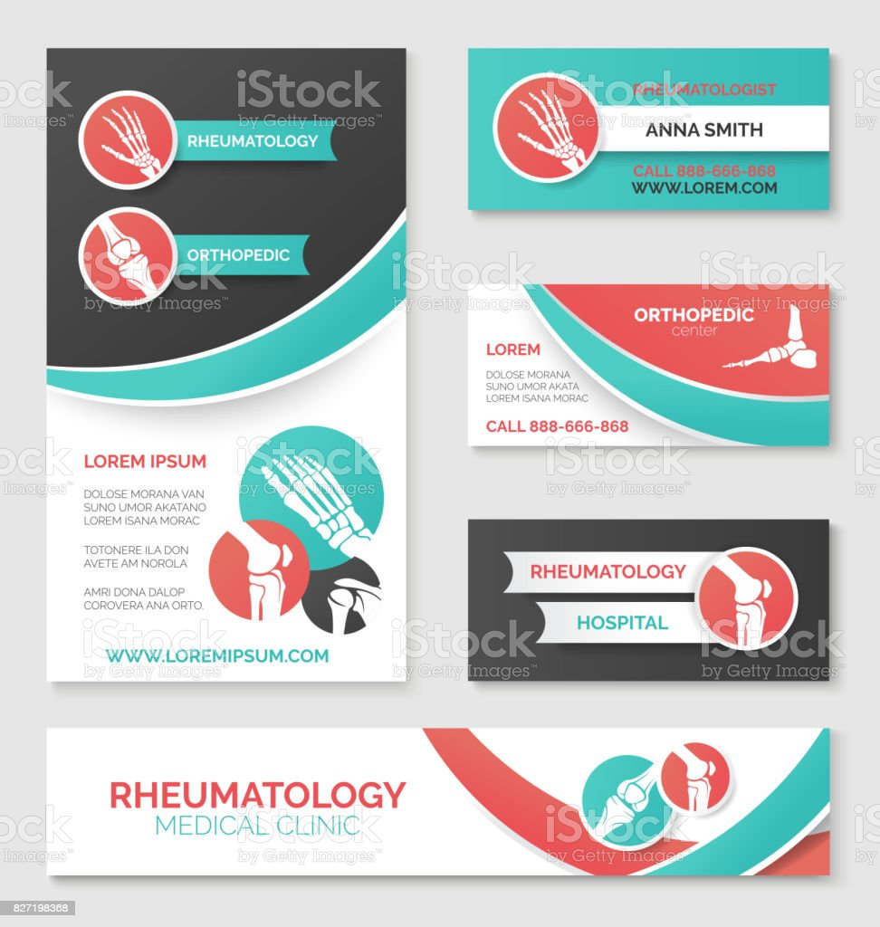 Medical clinic banner, card, flyer template design vector art illustration