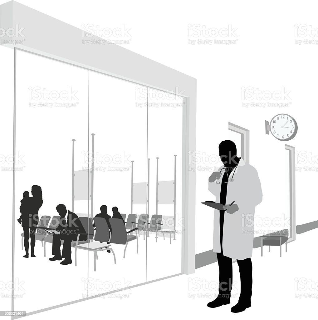 Medical Clinic Specialist vector art illustration