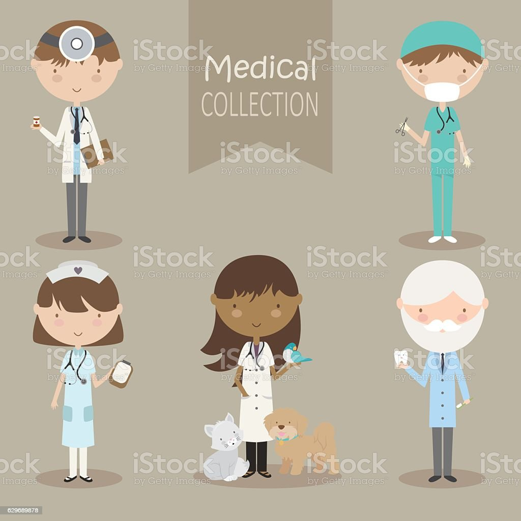 Medical Collection vector art illustration