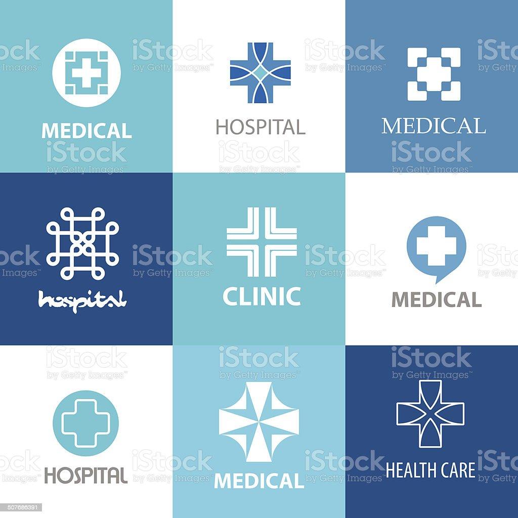 medical crosses vector art illustration