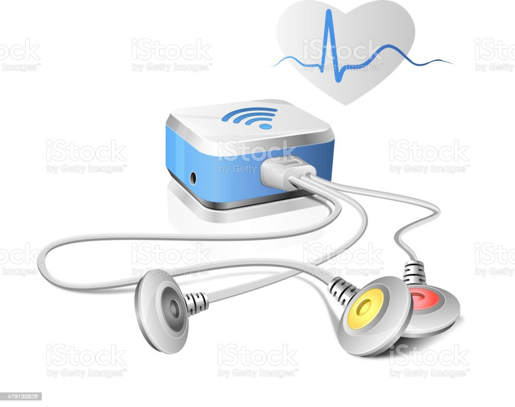 Medical Devices - ECG Monitoring vector art illustration