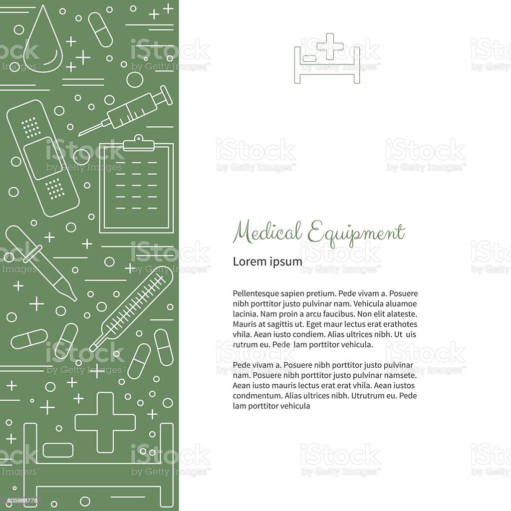 Medical diagnostic, checkup graphic design concept vector art illustration