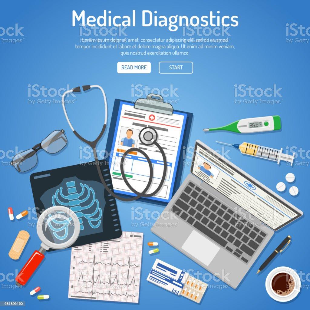 Medical diagnostics concept vector art illustration