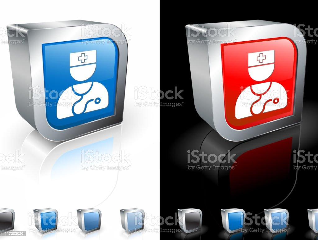 medical doctor 3D royalty free vector art royalty-free stock vector art