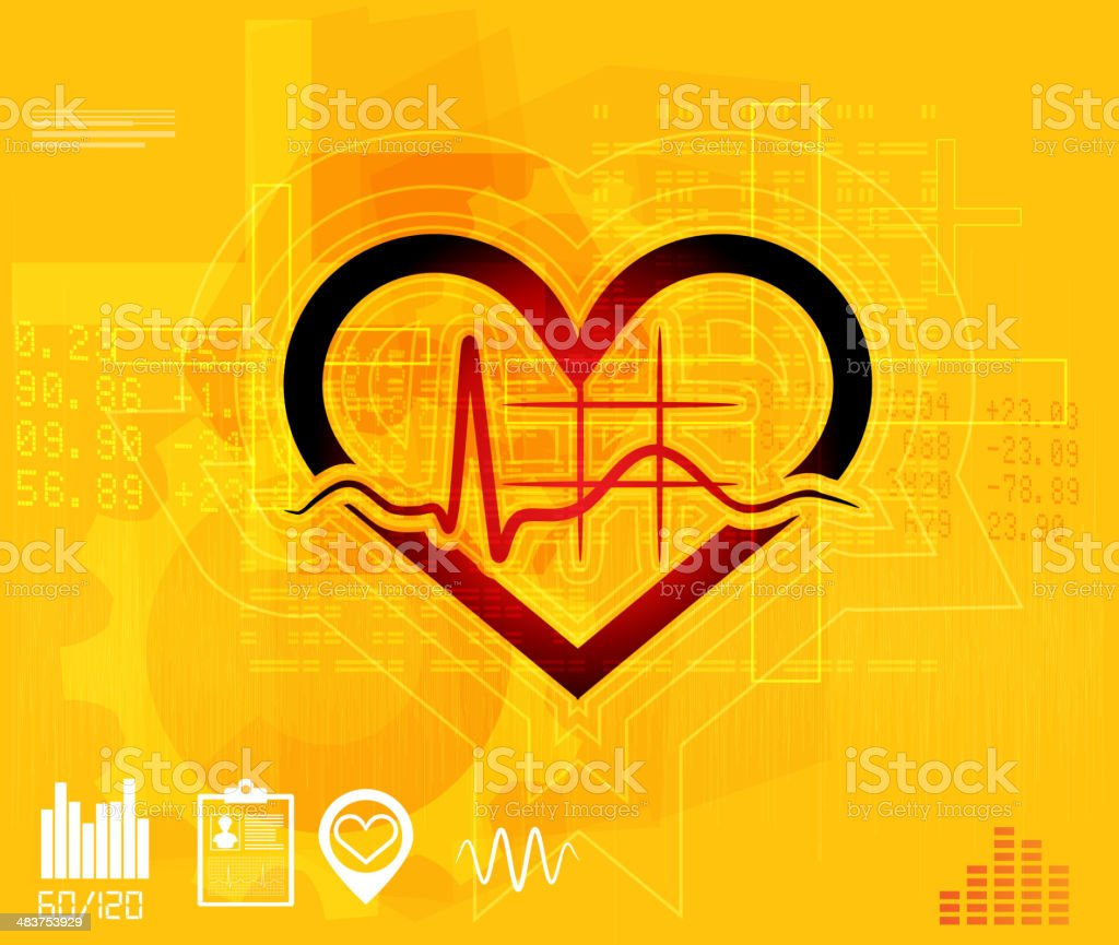 Medical ECG Abstract Background royalty-free stock vector art
