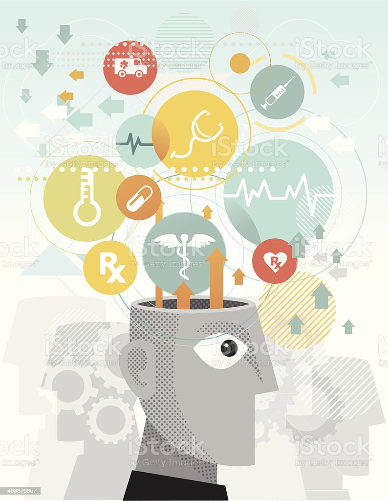 Medical education royalty-free stock vector art