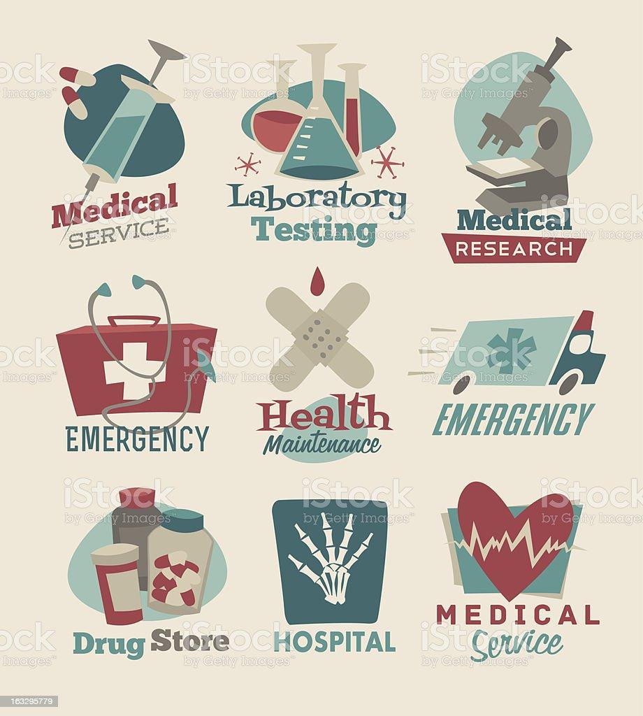 Medical emblems royalty-free stock vector art