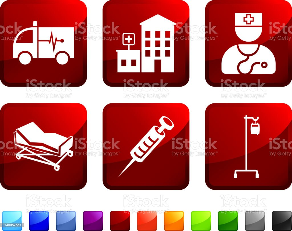medical emergency royalty free vector icon set stickers royalty-free stock vector art