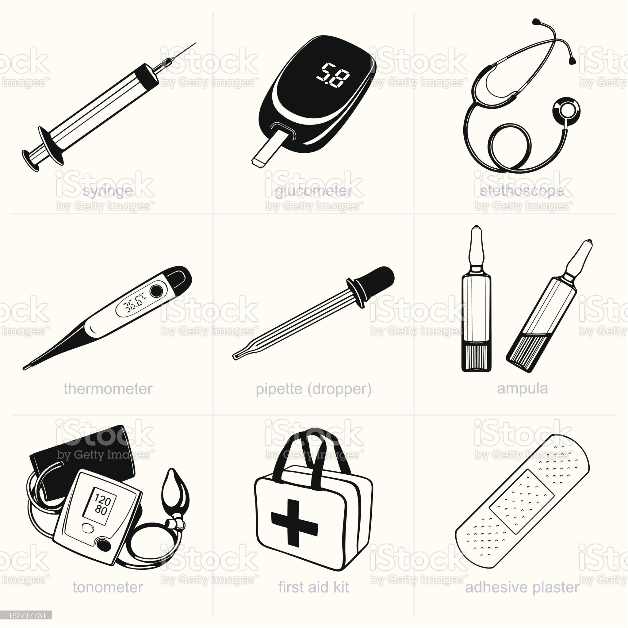 Medical equipment royalty-free stock vector art