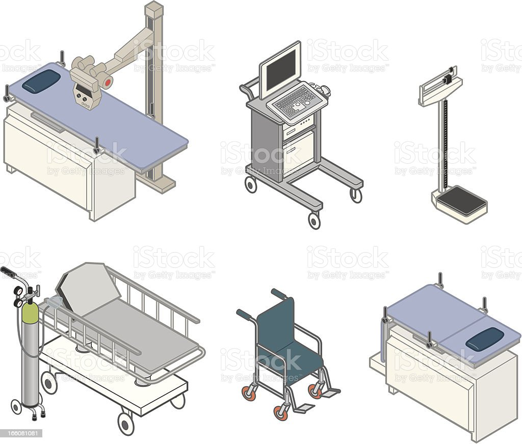Medical Equipment vector art illustration