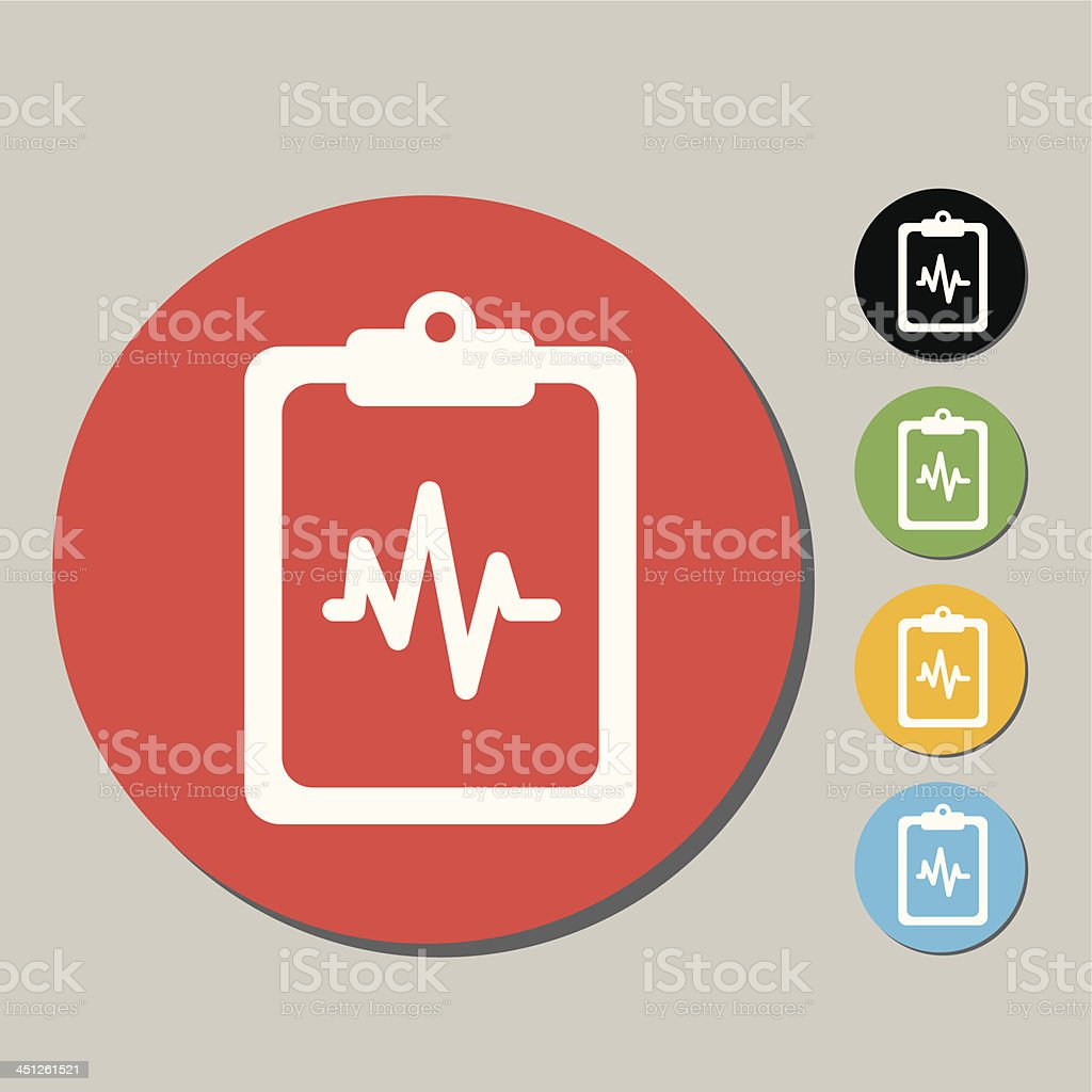 Medical exam icon royalty-free stock vector art