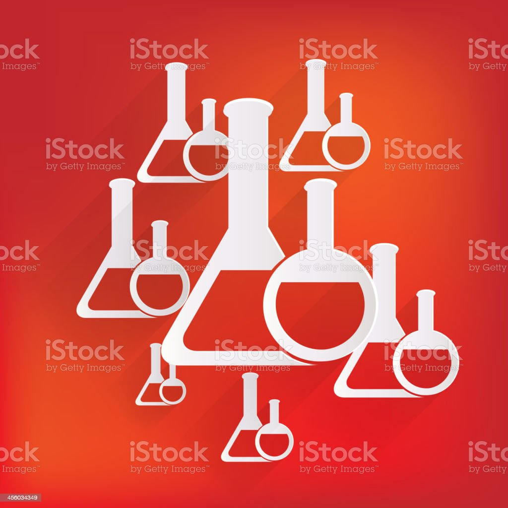 Medical flack, chemical eequipment web icon royalty-free stock vector art