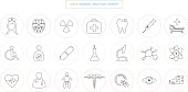 medical health care hospital science research laboratory concept icon elements