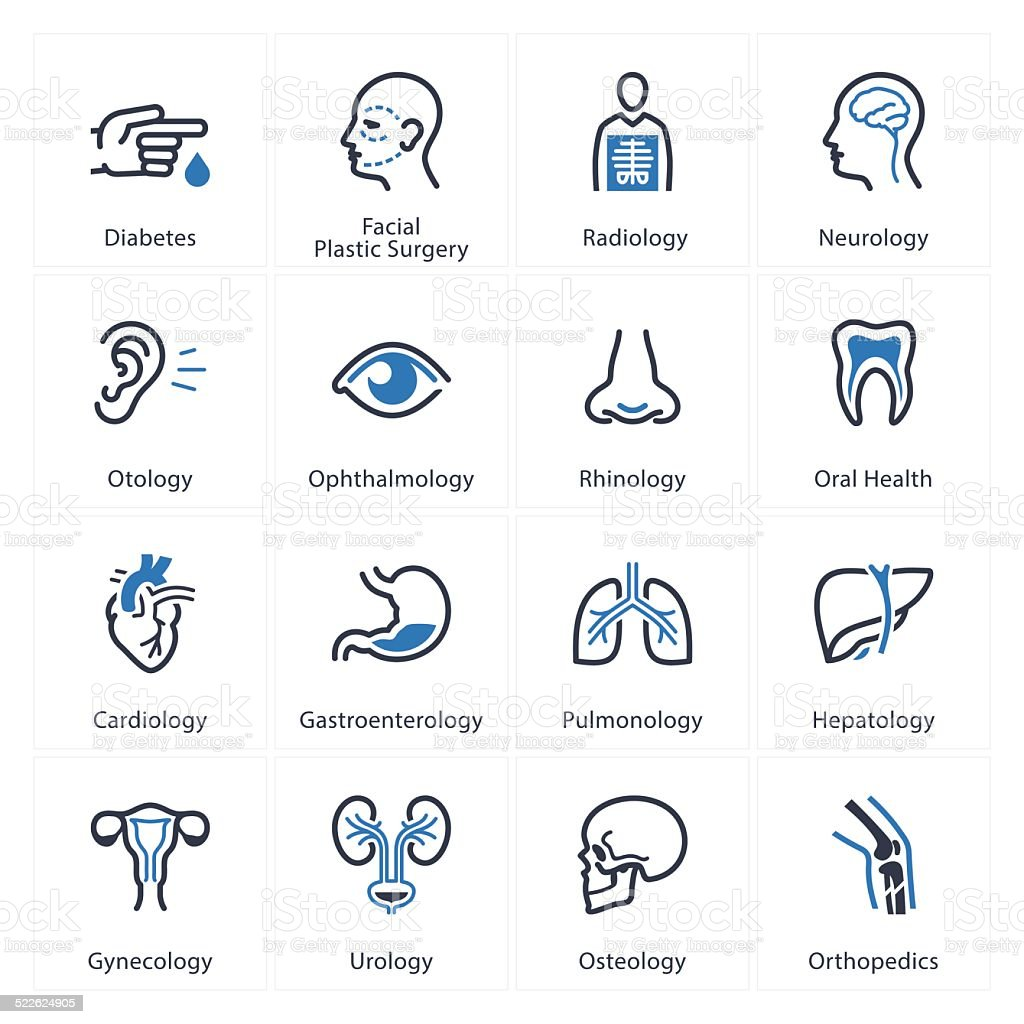Medical & Health Care Icons Set 1 - Specialties vector art illustration
