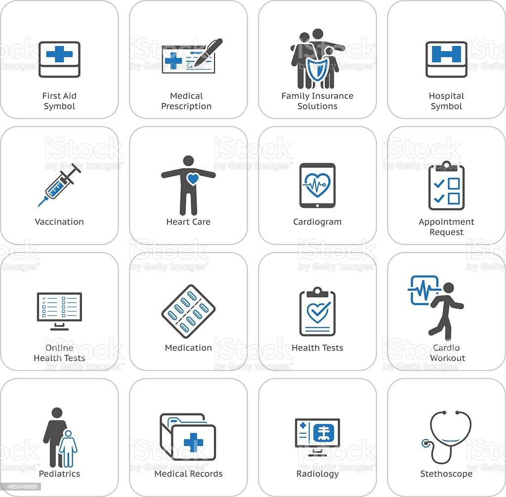 Medical & Health Care Icons Set. Flat Design. vector art illustration
