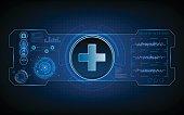 medical health care tech hud ui virtual sci fi concept