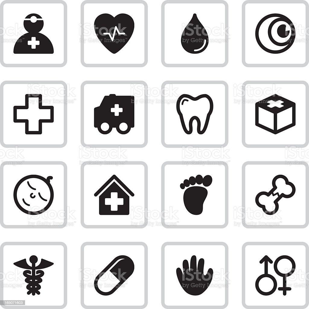 Medical Health Icons | Black vector art illustration