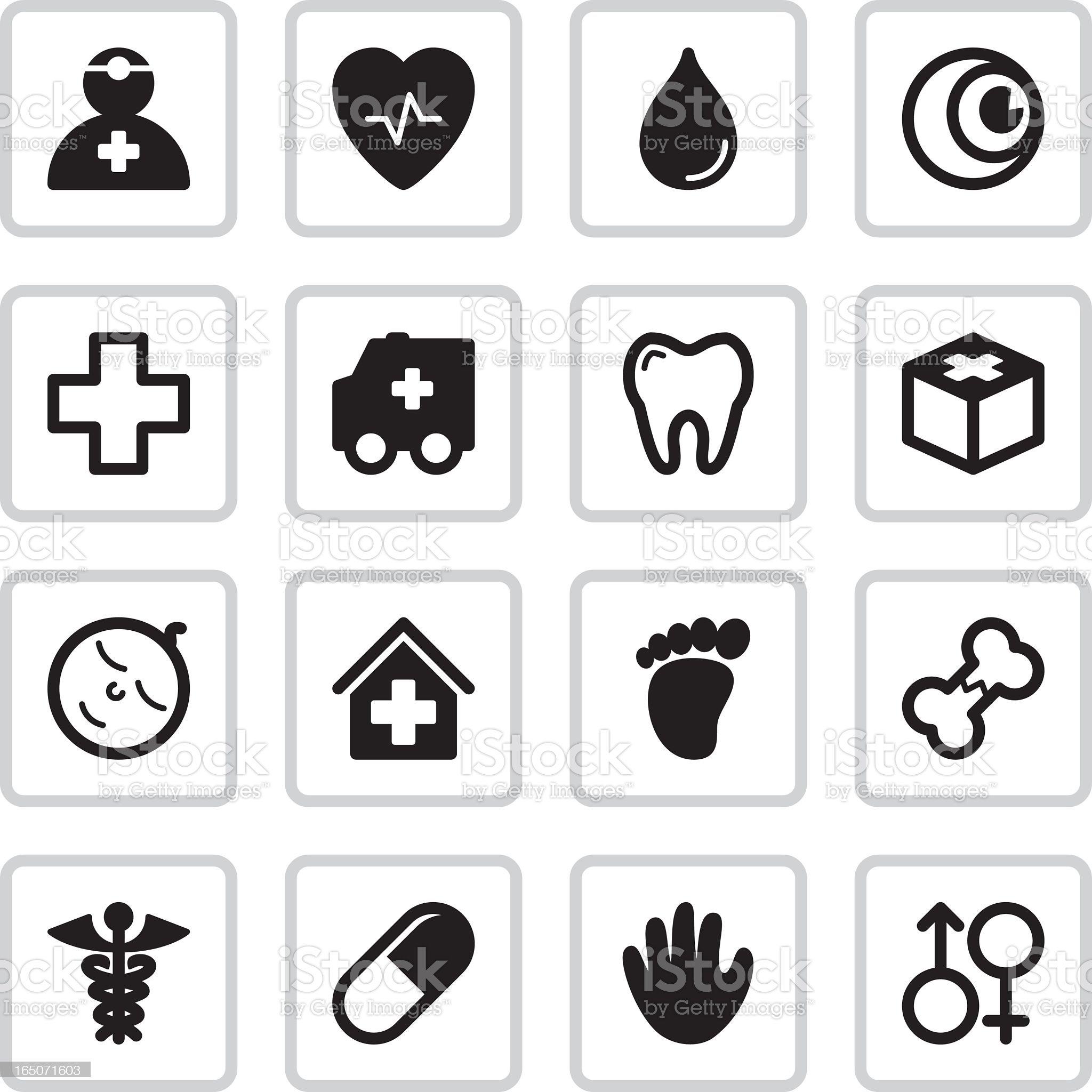 Medical Health Icons   Black royalty-free stock vector art