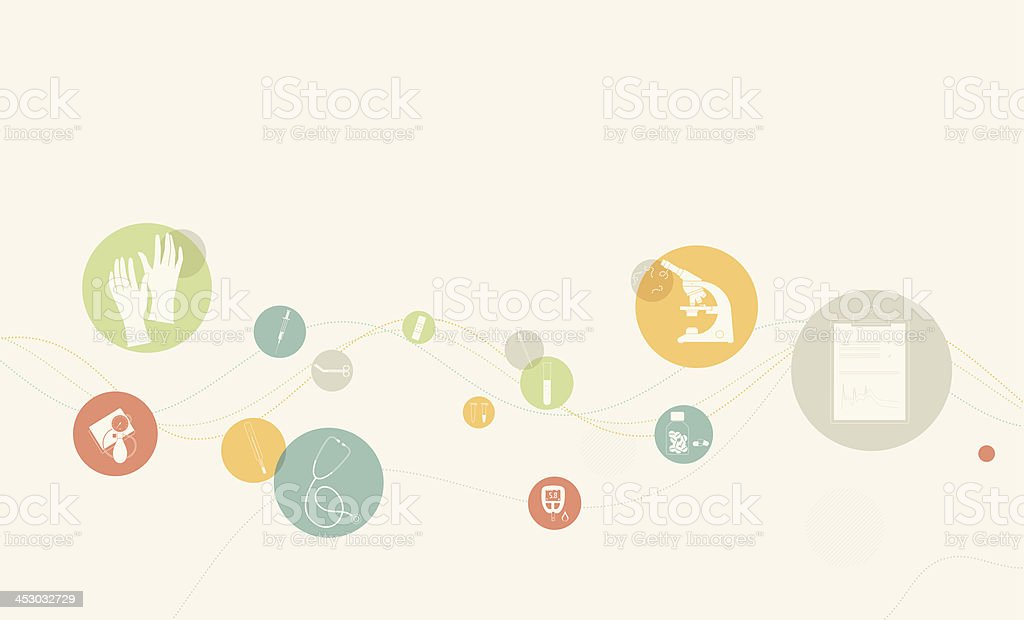 Medical healthcare background with icons vector art illustration