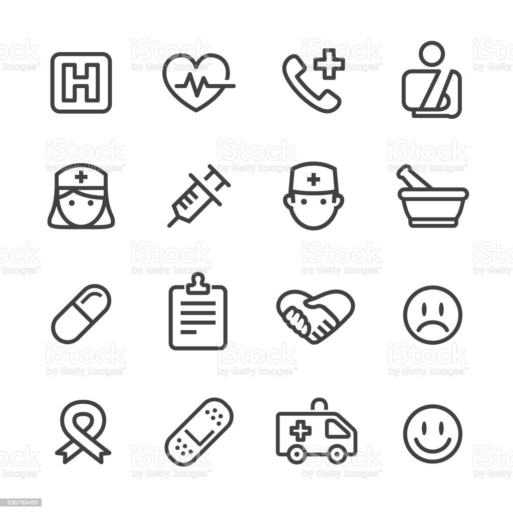 Medical Healthcare Icons - Line Series vector art illustration