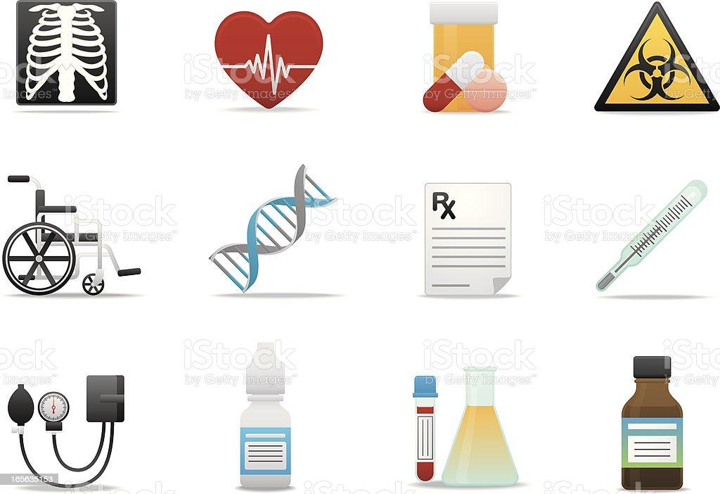 Medical & Healthcare icons   Premium Matte series royalty-free stock vector art