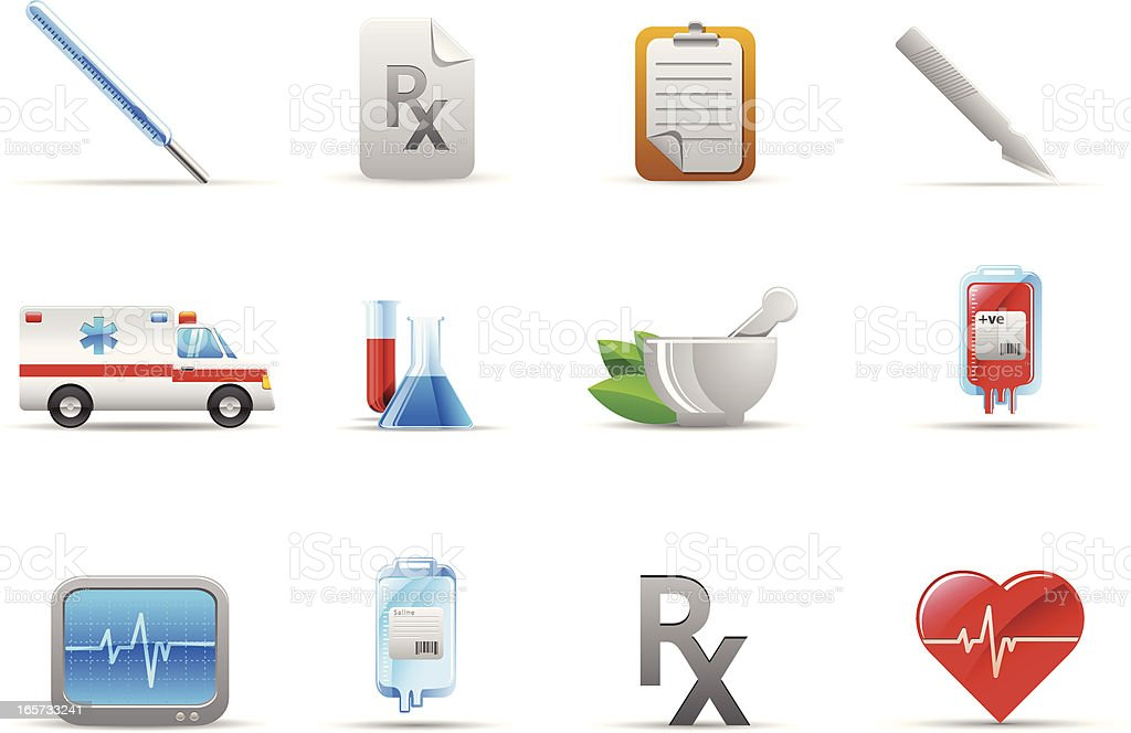 Medical & healthcare icons royalty-free stock vector art