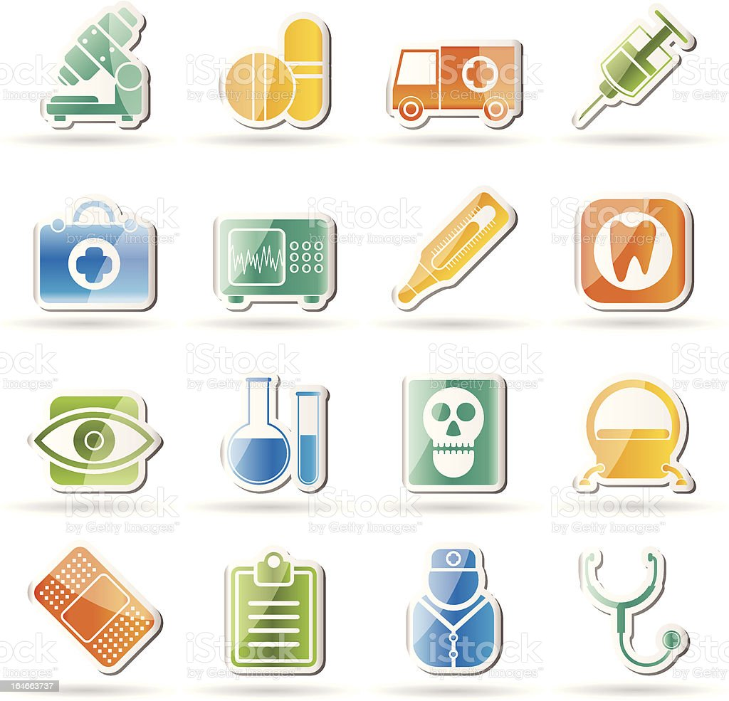 medical, hospital and health care icons royalty-free stock vector art