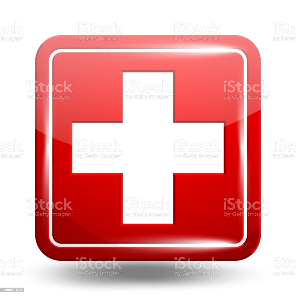 Medical Icon. Emergency Symbol Red Set vector art illustration