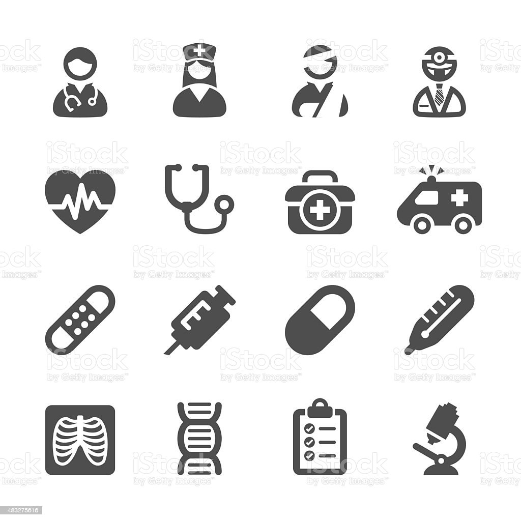 medical icon set 4, vector eps10 vector art illustration