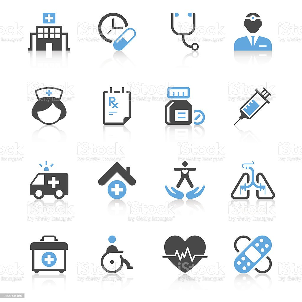 Medical Icon Set | Concise Series vector art illustration