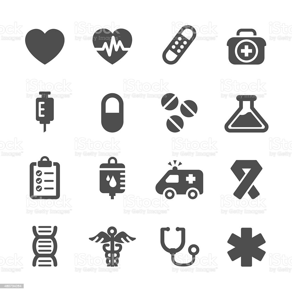 medical icon set, vector eps10 vector art illustration
