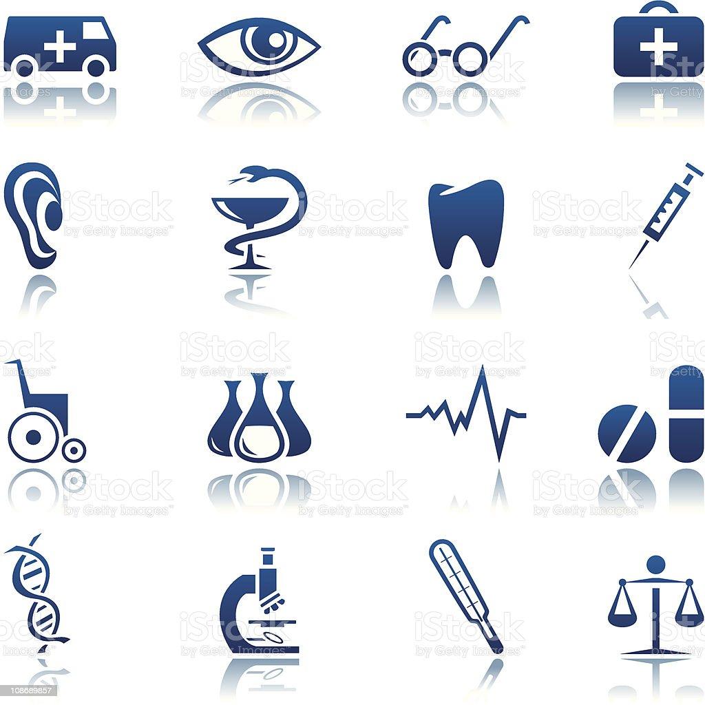 Ensemble d'icônes médicaux stock vecteur libres de droits libre de droits