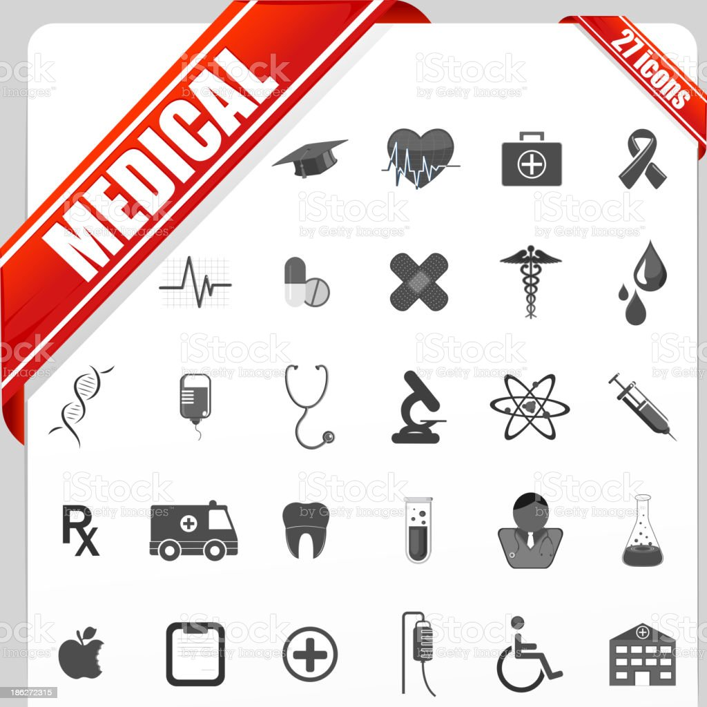 Medical Icon Set royalty-free stock vector art