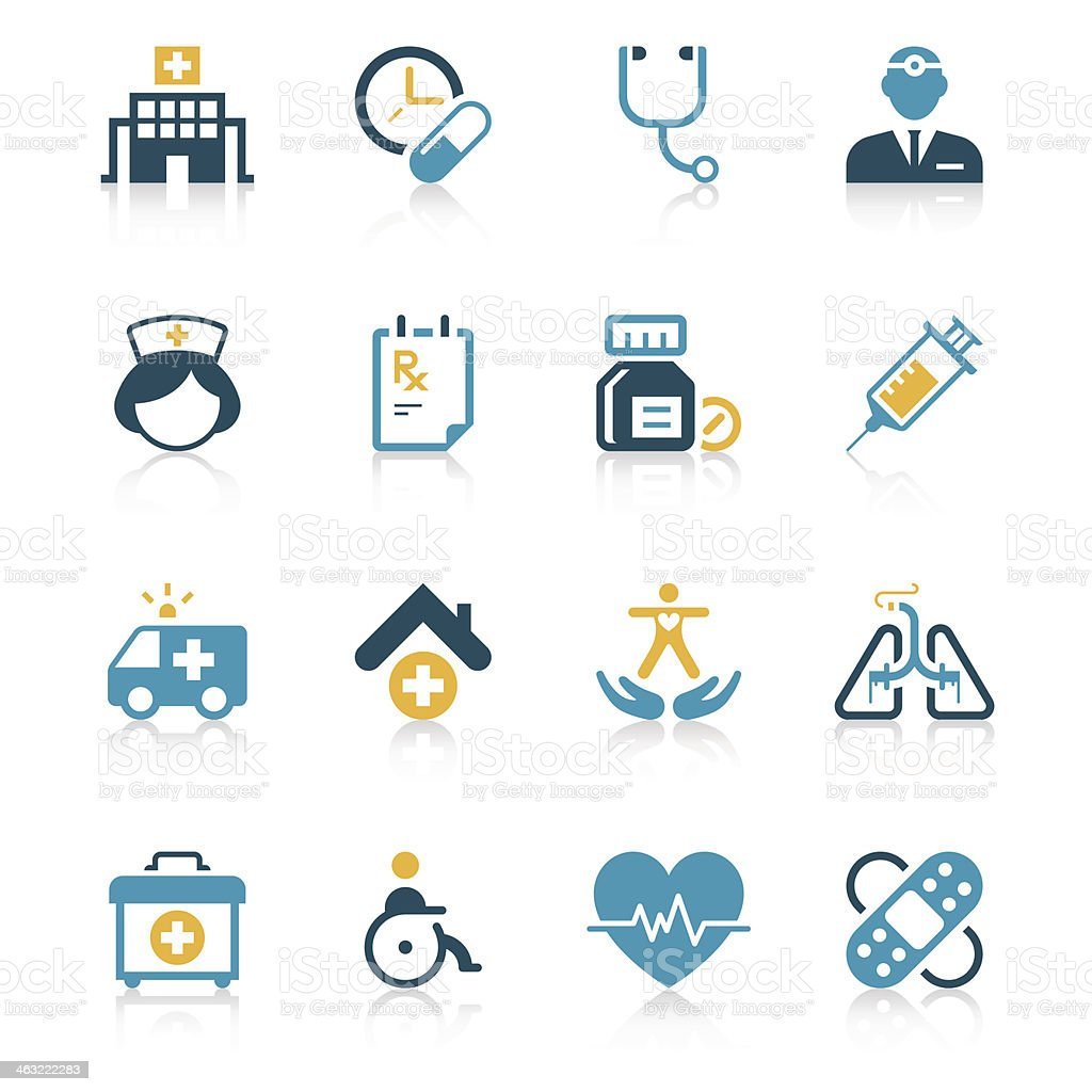 Medical Icon Set | Vivid Series vector art illustration