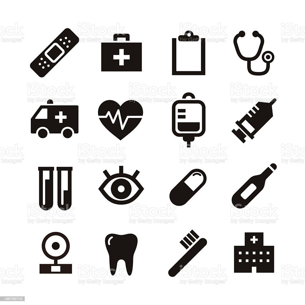 Medical icon vector art illustration