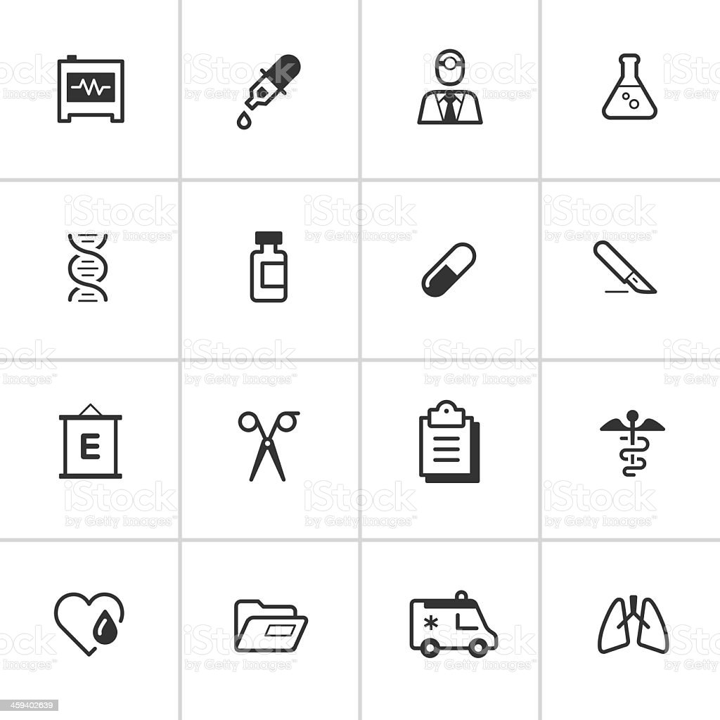 Medical Icons 2 — Inky Series vector art illustration