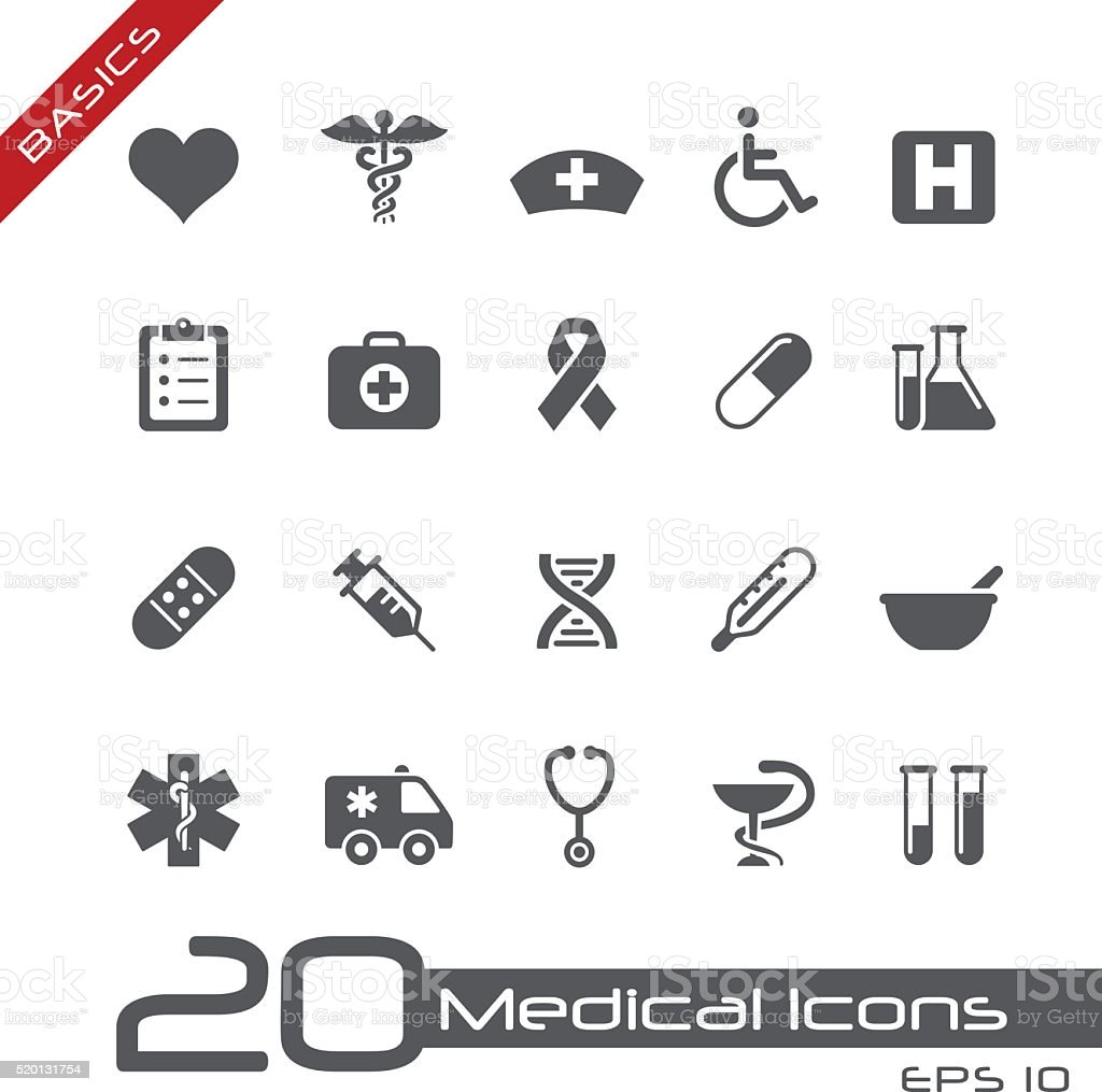 Medical Icons // Basics vector art illustration