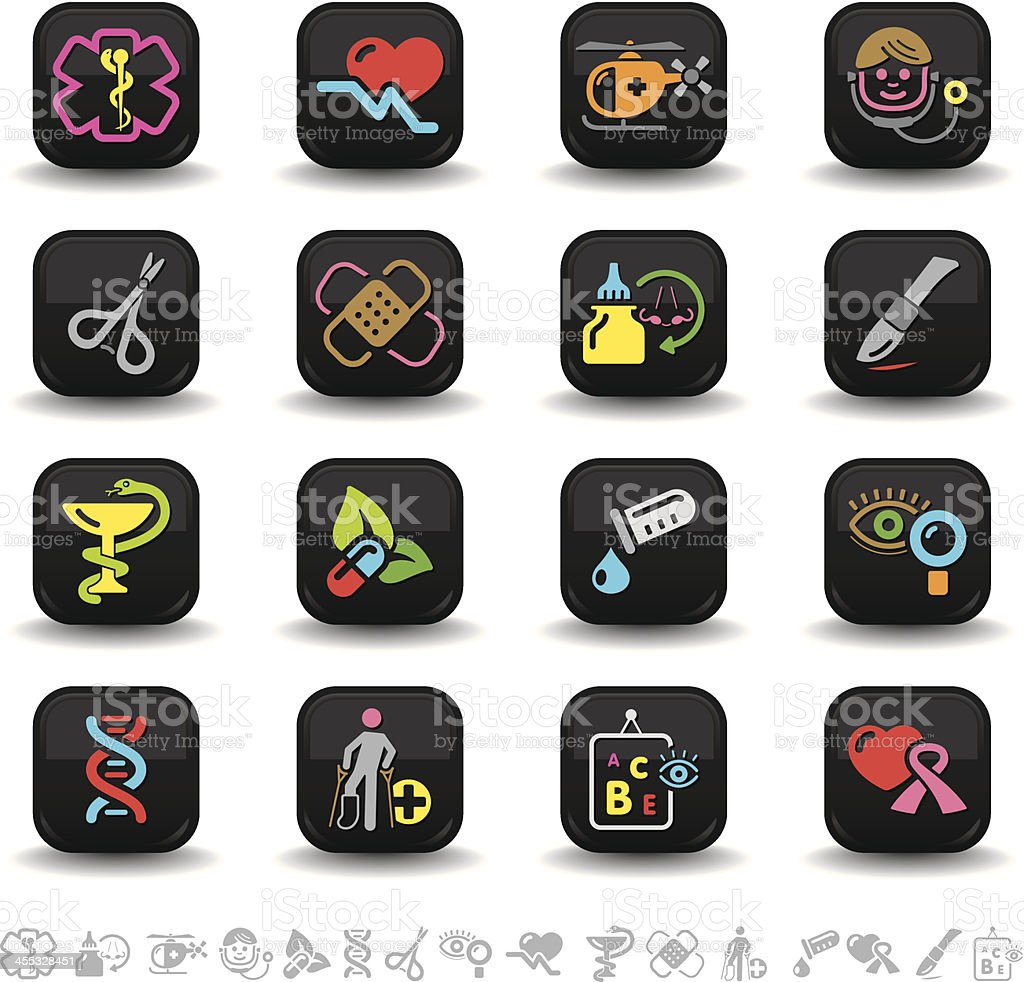 Medical icons | bbton series vector art illustration